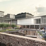 Team Five's Proposal for Empire Stores coffee warehouses (Courtesy of Brooklyn Bridge Park)