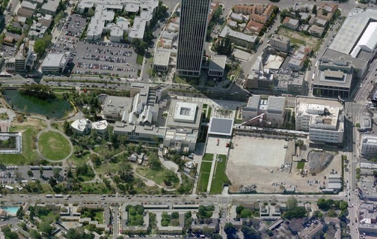 Aerial view of LACMA. (Courtesy Bing Maps)