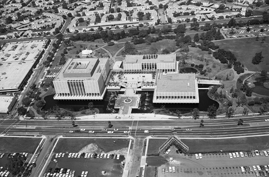 Aerial view of LACMA in 1965. (Courtesy LACMA)