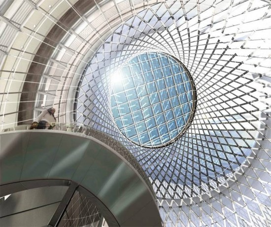 Fulton Center / Sky Reflector-Net.(Courtesy  MTACC/NYCT, Arup, Grimshaw)