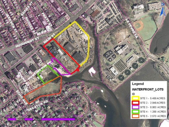 Competition site map. (Courtesy Waterfront Gateway Design Competition)