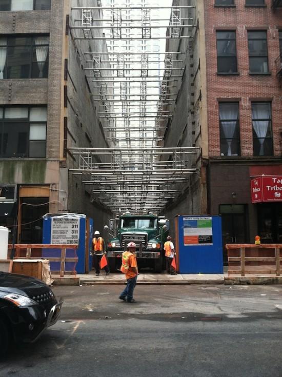 19 Park Place construction site (Nick Miller/AN)