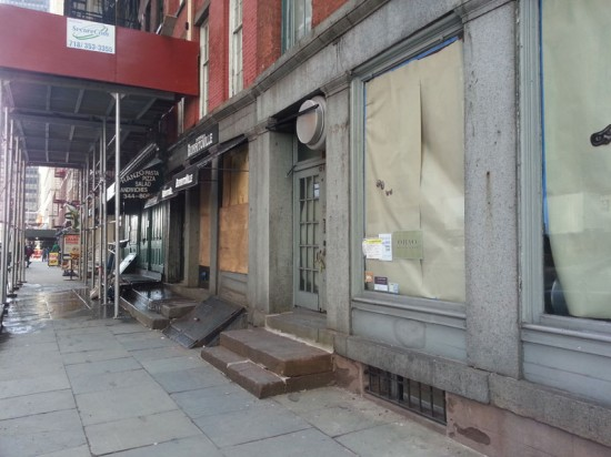 Shuttered business on Water Street after Hurricane Sandy (Courtesy of DCP)