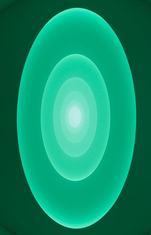 Aten Reign, shifted to green. (David Heald/Courtesy Solomon R. Guggenheim Foundation)