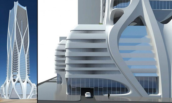 New renderings of Zaha Hadid's One Thousand Museum tower in Miami. (Courtesy 1000 Museum)