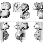 Varies angles of Dorothy's filigree were digitally modeled. (courtesy Boston Valley Terra Cotta)