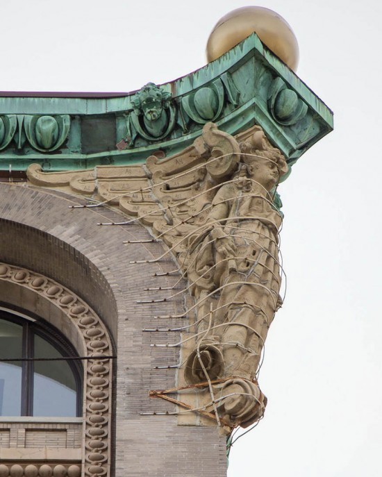 Boston Valley Terra Cotta restored four original 20-foot decorative angels in New York. (courtesy Boston Valley Terra Cotta)