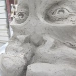 A close up of Dorothy's unfinished face (Mitchell Bring/Boston Valley Terra Cotta)