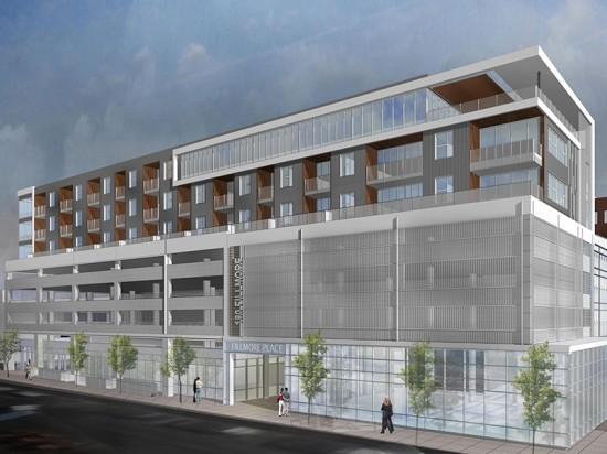 Open Studio's design for Denver's Fillmore residential project specifies Guardian's SunGuard Neutral 78/65. (courtesy Open Studio)
