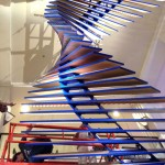 The edge of each slat slopes one degree, adding to the sculpture's twisting appearance. (courtesy The Guild)