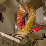 Ascending the elevator, the colors shift from white to orange to red. (James Shanks)