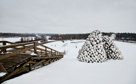 Talus Dome is sited along a bike path and Whitemud Drive. (Dwayne Martineau/Laughing Dog Photography)