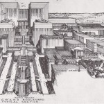 Lloyd Wright Civic Center Plan, 1925. (Courtesy Eric Lloyd)