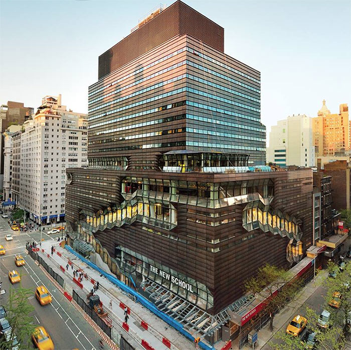 Som 39 s university center at the new school gets its green for Design schools nyc