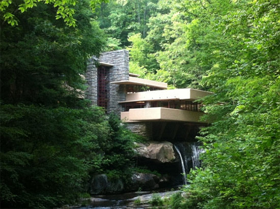 Falling Water by Frank Lloyd Wright. (Courtesy Peter Murray)