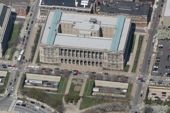 Philadelphia's Family Courts Building. (Courtesy Bing Maps)