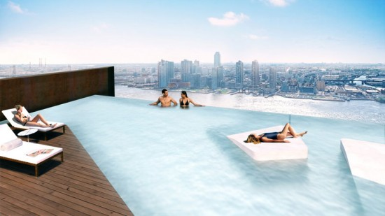Rooftop Pool (Courtesy of SHoP Architects)