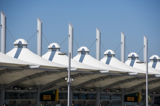 New exterior fabric canopies (San Diego International Airport)