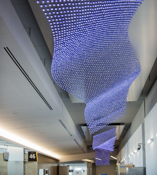 """The Journey,"" an art installation by Jim Campbell (San Diego International Airport)"