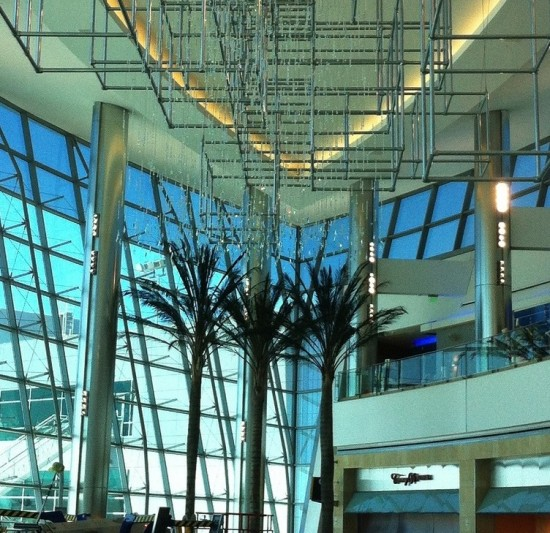 Inside the almost-complete Sunset Cove, the terminal's grand hall. (San Diego International Airport)