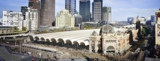 Old and New Come Together at Flinders St. Station