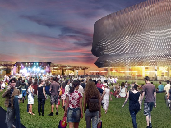 Rendering of new amphitheater at Nassau Coliseum (Courtesy of SHoP)