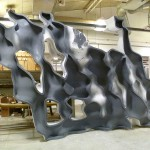 The wall's mold takes shape. (Phil Arnold)