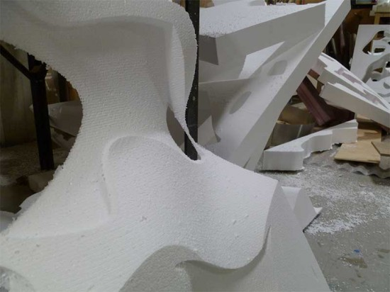 When formed on a CNC mill, Styrofoam became a workable material for a mold. (Phil Arnold)