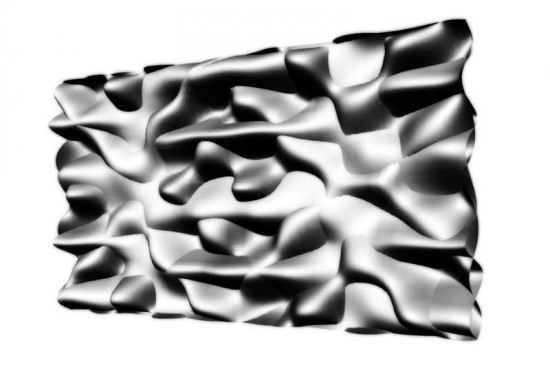 He augmented a tectonic simile from le Ricolais' latticed models as surfaces. (courtesy Justin Diles)