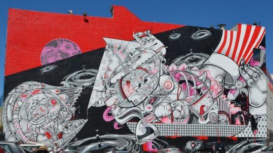 Heartship, by How & Nosm (Mural Conservancy of Los Angeles)