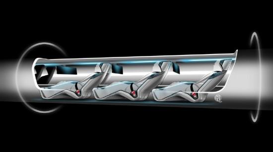 Rendering of passenger transit capsule. (Tesla Motors)