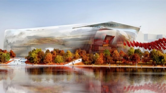 Jean Nouvel's Design for new National Art Museum of China. (Courtesy Jean Nouvel)