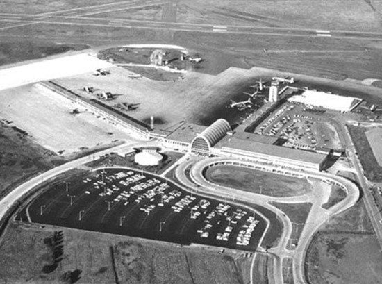 1960 Aerial View of Louis Armstrong Airport (Courtesy of Louis Armstrong International Airport)