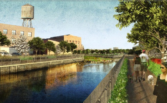 The Gowanus Canal Sponge Park (Courtesy of dlandstudio)