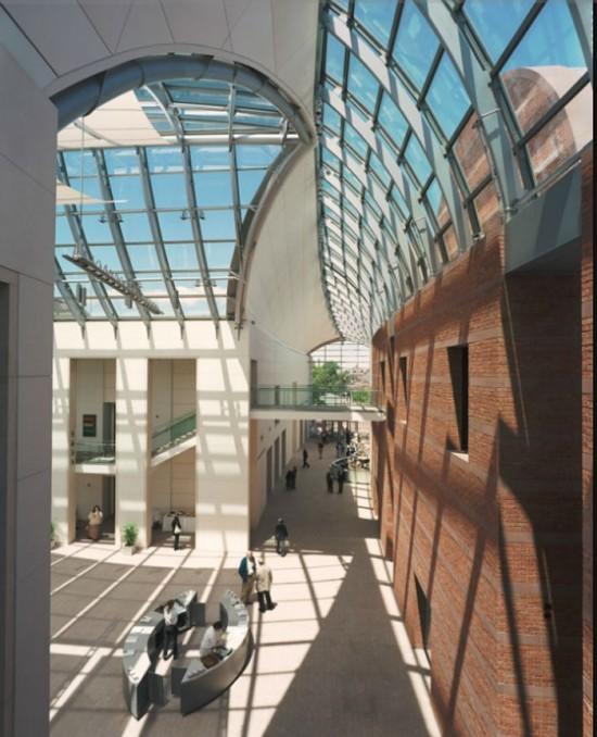 Interior of Peabody Essex Museum (Courtesy of Safdie Architects)