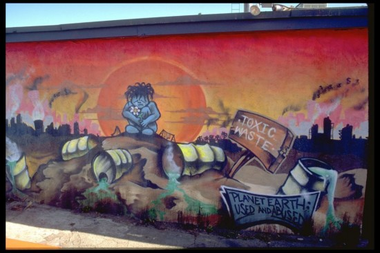 Planet Earth, by unknown (Mural Conservancy of Los Angeles)