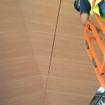 Ceilings Plus deployed several expert installers to assist the installation process. (courtesy Ceilings Plus)