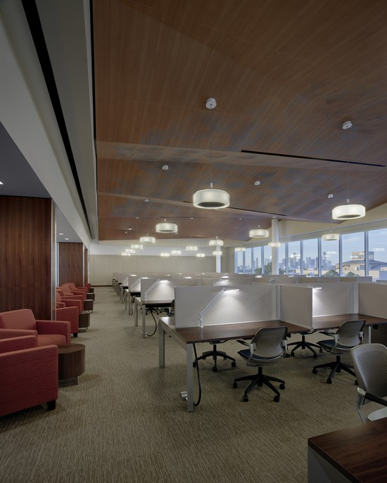 The Quiet Hall is part of the new Classroom and Business Building at the University of Houston. (Joe Aker/Gensler)