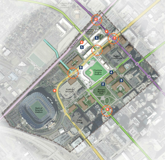 Third Ward Area Plan as Proposed by Charlotte City Center's 2020 Vision Plan. (Courtesy Charlotte City Center)