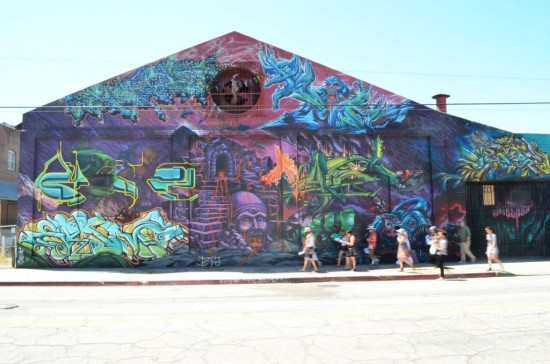 Untitled, by CBS Crew & Vyal One (Mural Conservancy of Los Angeles)