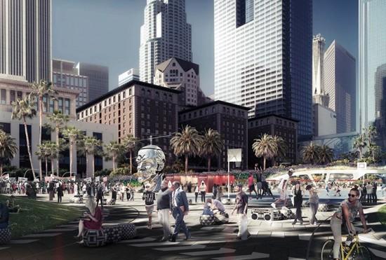 Gensler's conceptual design concept for Pershing Square (Gensler)