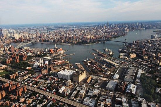 Aerial view of the Brooklyn Navy Yard. (Courtesy Brooklyn Navy Yard)