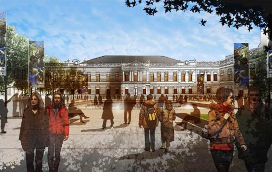 Pushkin Museum Expansion Project Rendering (Courtesy Foster + Partners)