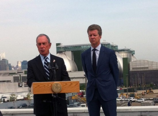 HUD Secretary Donovan and Mayor Bloomberg announce Hurricane Sandy rebuilding strategy. (Nicole Anderson / AN)