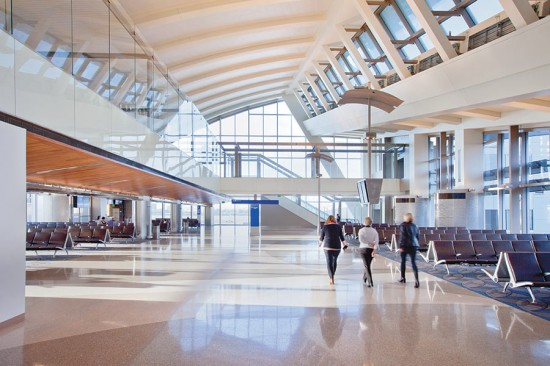 Inside Fentress Architects' Tom Bradley terminal at LAX. (Jason A. Knowles)