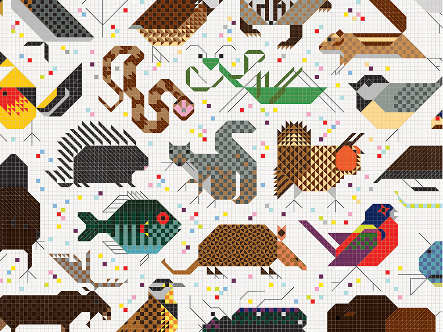 Q a todd oldham and designtex revive the wildlife for Charley harper mural