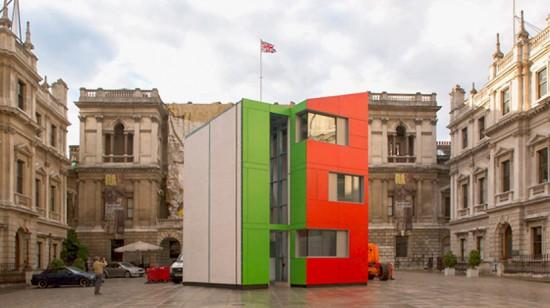 Homeshell House in the Royal Academy Courtyard. (Courtesy Miguel Santa Clara via Royal Academy)