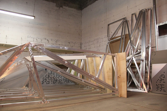 Situ fabricated an aluminum frame for each panel. (courtesy Situ Fabrication)