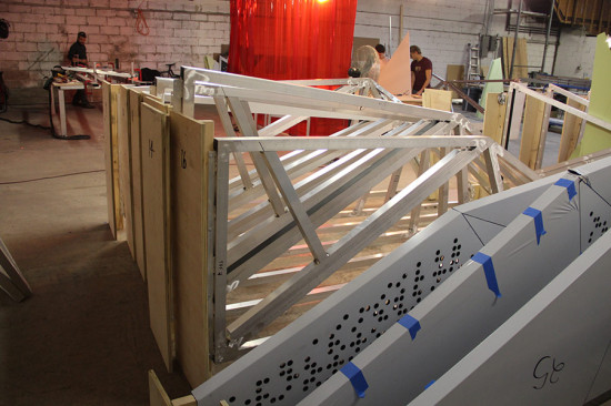 Panels are numbered for ease of installation. (courtesy Situ Fabrication)