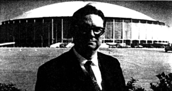 Former Harris County Judge Roy Hofheinz is credited with conceiving the idea for the Astrodome in Italy, in hearing that the Roman Colosseum, home of blood sports and human sacrifices, had a retractable sunshade. (Courtesy Texas Architect)